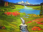 Youtube Painting Originals - Rocky mountain High by John Morris