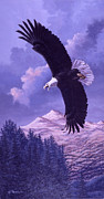 American Bald Eagle Painting Prints - Rocky Mountain High Print by Richard De Wolfe