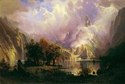 Bierstadt Prints - Rocky Mountain Landscape Print by Pg Reproductions