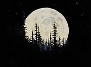 Rocky Mountain Moon Print by C Steele