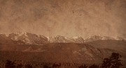 Rocky Mountains Mixed Media - Rocky Mountain National Park In Sepia by Dan Sproul