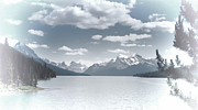 Maligne Lake Framed Prints - Rocky Mountain Paradise Framed Print by Randy Hall