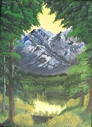 Metal Trees Originals - Rocky Mountain Reflections by Sharon Duguay