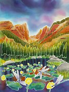 Mountains Painting Posters - Rocky Mountain Summer Poster by Harriet Peck Taylor