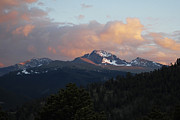 Mountain Tapestries - Textiles Prints - Rocky Mountain Sunset Print by Harry Enderle