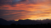 Sihlouette Posters - Rocky Mountain Sunset Poster by Marilyn Hunt
