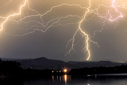 Images Lightning Art - Rocky Mountain Thunderstorm  by James Bo Insogna