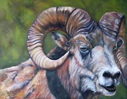 In Earth Tones Paintings - Rocky Mountain Warrior by Sandra Cutrer