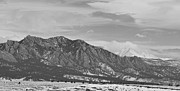 Stirring Framed Prints - Rocky Mountains Flatirons and Longs Peak Panorama  2 Framed Print by James Bo Insogna