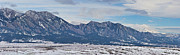 Rocky Mountains Flatirons And Longs Peak Panorama Boulder Print by James BO  Insogna