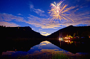 Rocky Mountains Private Fireworks Show Print by James Bo Insogna