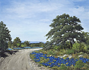 Gravel Road Paintings - Rocky Ranch Road by Burt Oatman