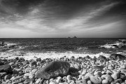 Storm Prints Framed Prints - Rocky Shore Framed Print by Chris Thaxter