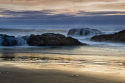 Northwest Art - Rocky Shores at Sunset by Andrew Soundarajan