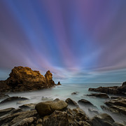 Rocky Southern California Beach 2 Print by Larry Marshall