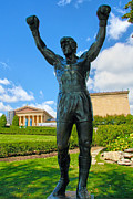 Rocky Balboa Prints - Rocky Statue Print by Mitch Cat