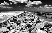 Ocean Images Prints - Rocky View at South Beach Print by John Rizzuto