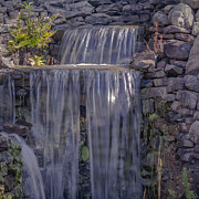 Rocky Waterfall Print by Michael Waters
