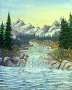 David Bentley Prints - Rocky Waters Print by David Bentley