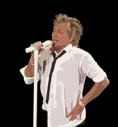 Hall Of Fame Art - Rod Stewart In Concert by Melinda Saminski