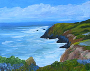 Marin County Originals - Rodeo Cove Marin Headlands by Dave Mazza