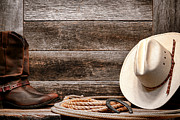 Cowboy Hat Photo Prints - Rodeo Still Life Print by Olivier Le Queinec