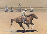Barrel Paintings - Rodeo by Terry Guyer