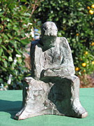Religious Sculpture Prints - Rodin Homage Print by Karl  Leonhardtsberger