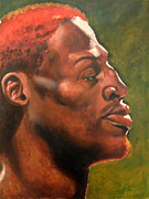 Chicago Bulls Prints - Rodman Print by Carole Heslin