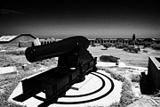 Dry Tortugas Prints - Rodman Civil War Cannon On Gun Carriage At Fort Jefferson Dry Tortugas National Park Florida Keys Us Print by Joe Fox