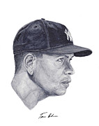 New York Yankees Paintings - Rodriguez by Tamir Barkan