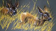 Roe Deer Print by Angel  Tarantella