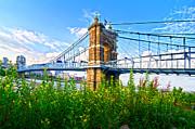 Randall Branham - Roebling Bridge and Flowers