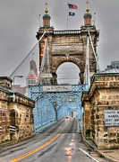 Covington Prints - Roebling Bridge Print by David Bearden