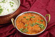 Lamb Framed Prints - Rogan josh in kadai bowl Framed Print by Paul Cowan