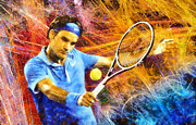 RochVanh   - Roger Federer colorful...