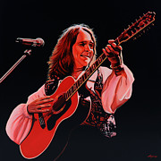 Singer  Paintings - Roger Hodgson by Paul  Meijering