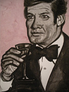 Jeremiah Cook - Roger Moore Watercolor...