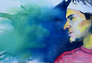 Wimbledon Painting Prints - Roger Print by Scott  Parker