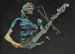 Bass Player Drawings Posters - Roger Waters. Poster by Breyhs