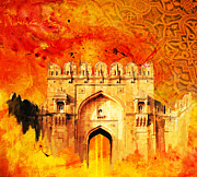 National Parks Painting Prints - Rohtas Fort 01 Print by Catf