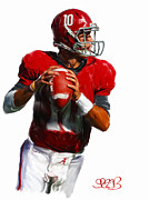 Ncaa Mixed Media Prints - Roll Tide - Alabama Football Print by Spears