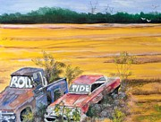 Autumn Landscape Drawings - Roll Tide by Linda Stoughton