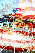 Roller Coaster Americana Print by adSpice Studios