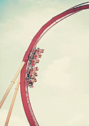 Roller Coaster Photo Framed Prints - Roller Coaster Framed Print by Jessie Gould