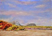 New Jersey Pastels Originals - Roller Coaster by Joyce A Guariglia