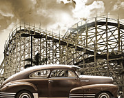 Fleetline Posters - Roller Coaster Poster by Larry Butterworth