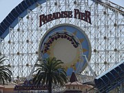 Paradise Pier Attraction Posters - Roller Coaster loop Poster by Josh Dorantes