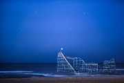 Jetstar Photo Metal Prints - Roller Coaster Stars Metal Print by Michael Ver Sprill
