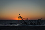 Jet Star Photo Metal Prints - Roller Coaster Sunrise 2 Metal Print by Michael Ver Sprill